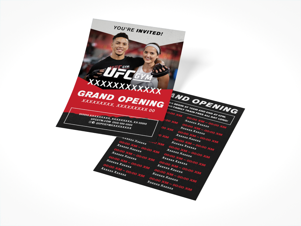 UFCGYM Grand Opening Flyer