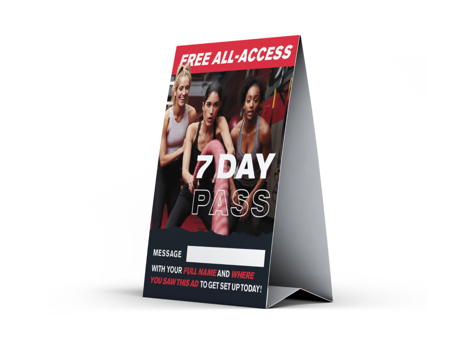 UFCGYM Lead Generation Counter Card