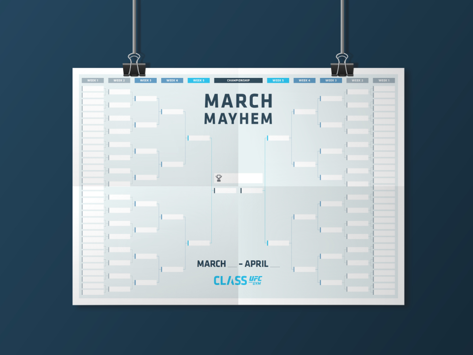 CLASS UFC GYM March Mayhem Poster