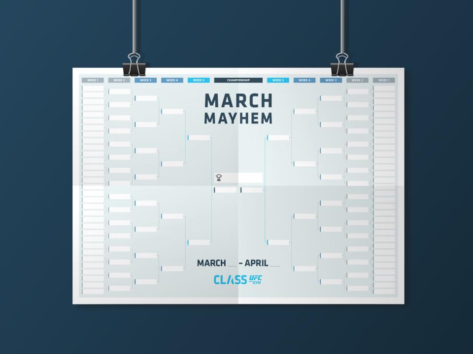 CLASS UFC GYM March Mayhem Poster